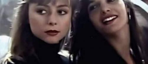 Marianne Ebert com Daniela Perez. (Reprodução/TV Globo)