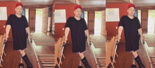 O ator Paulo Gustavo se acidentou em casa. (Foto: Montagem/Instagram).