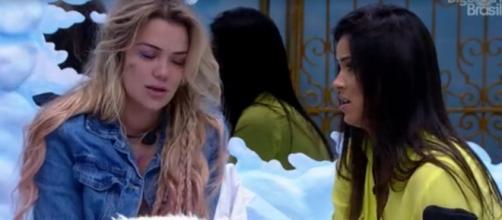 Ivy fala com Marcela sobre saída de Daniel. (Reprodução/TV Globo)