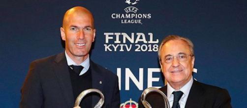 La tension monte entre Zidane et Florentino Pérez. Credit : realmadrid/Instagram