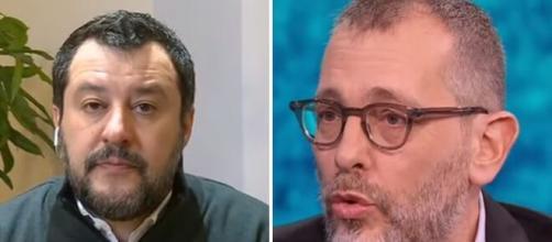 Matteo Salvini e Corrado Formigli.