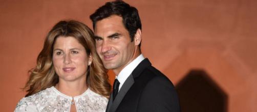 Roger Federer insieme alla moglie Mirka Vavrinec