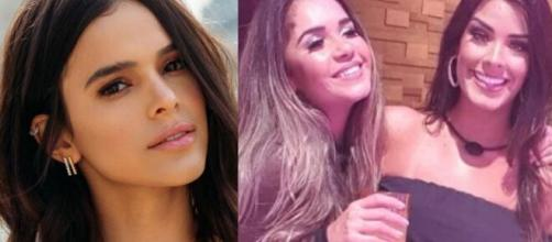 Bruna Marquezine pontuou o comportamento de Ivy e Gizelly no BBB. (Foto: Montagem/Instagram/Globo).