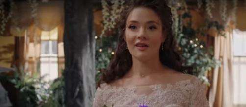 """Clara and Jessw share their 'When Calls the Heart"""" wedding and the cast shares love from self-isolation.[Image source:HallmarkChannel-YouTube]"""
