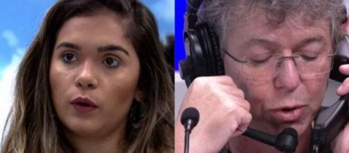 Família de Gizelly passou informações a ela, e Boninho nega expulsão. (Foto: Montagem/Globo).