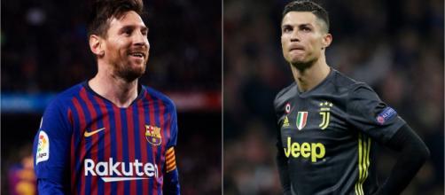Rivais em campo, Cristiano Ronaldo e Lionel Messi, fazem doações para hospitais. (Arquivo Blasting News)