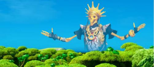 The new Oro skin in 'Fortnite.' [Image source: NewScapePro/YouTube]