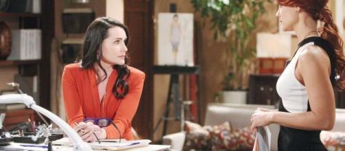 Beautiful, trama del 29 marzo: Quinn trama alle spalle di Sally per separarla da Wyatt.