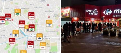 Covid-19, applicazioni e siti per evitare la coda al supermercato