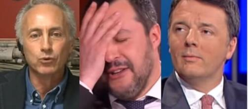 Marco Tracaglio, Matteo Savlini, Matteo Renzi.