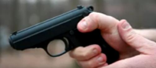 Walther PPK - testing the gun of James Bond. [Image source/GoldenGuns YouTube video]