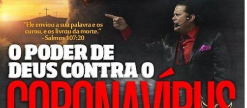 """Cartaz convida fiéis para irem """"se imunizar"""". (Arquivo Blasting News)"""