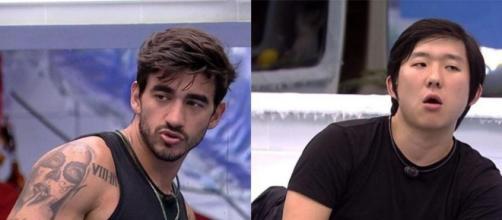 Guilherme e Pyong estão tecnicamente empatados na enquete do UOL. (Reprodução/TV Globo)