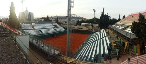 La sede del tennis club Cagliari dove si giocherà la Coppa Davis