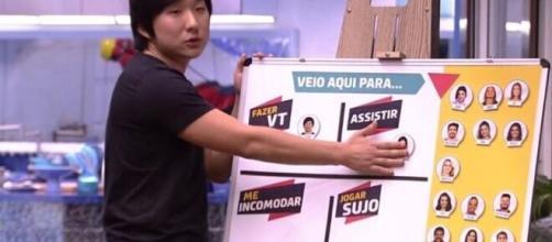 """O apresentador do """"BBB20"""" ressaltou que na ocasião do confessionário, Pyong não era a vítima da situação. (Reprodução/ TV Globo)."""