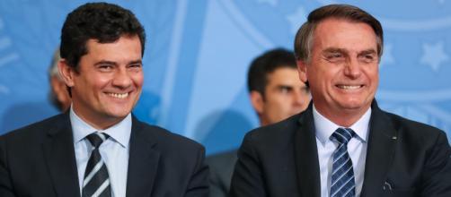 Bolsonaro comenta 'sumiço' de Sergio Moro. (Arquivo Blasting News)