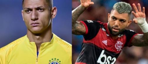 Gabigol e outros jogadores de futebol declararam que querem Manu Gavassi fora do 'BBB20'. (Foto: Montagem/Instagram).
