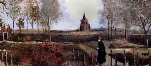 """""""Le jardín presbytère de Nuenen au printemp"""", obra de Van Gogh en el Museo Singer."""