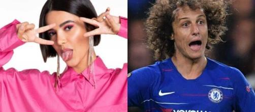 Manu Gavassi conta com a torcida do jogador David Luiz, contrariando o resto do mundo do futebol. (Foto: Montagem/Globo/Instagram).