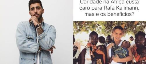 Pedro Scooby critica pessoas que ajudam a África. (Foto/Intagram/@leodias/@pedroscooby)