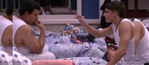Prior e Babu voltaram a discutir após o Paredão. (Reprodução/TV Globo)