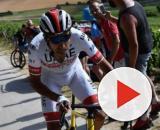 Fabio Aru impegnato al Tour de France dello scorso anno