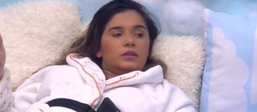 Gizelly conversa com sisters sobre paredão. (Reprodução/TV Globo)