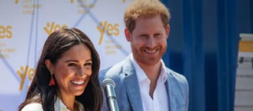 Prince Harry and Meghan relocate to Los Angeles. [Image source/Good Moring America YouTube video]