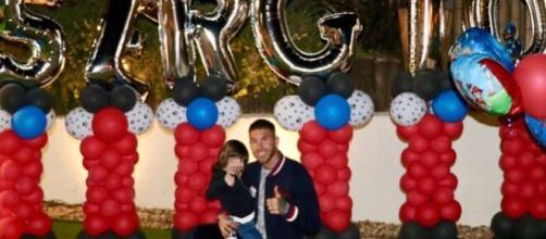 Sergio Ramos y Pilar Rubio celebran los 34 del futbolista durante la cuarentena