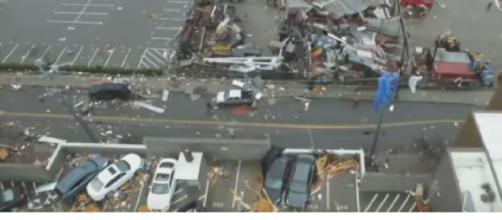 Deadly tornadoes devastate Tennessee. [Image source/ABC News YouTube video]
