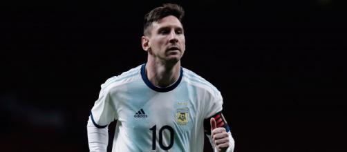 Leo Messi con la maglia della nazionale argentina