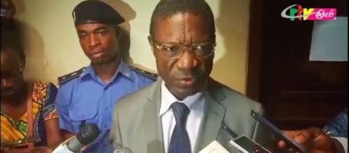 Nouveau Maire de Yaoundé Luc Messi Atangana (c) Capture/CRTV