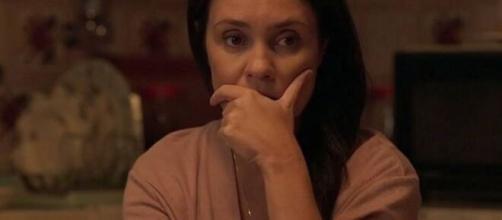 Thelma revela identidade de Domênico. (Reprodução/TV Globo)