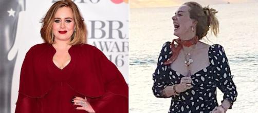Adele, antes de la dieta de las sirtuinas y tal como luce ahora, con 45 kilos menos - ritmoparana.com
