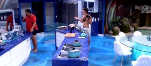 Babu e Prior discutem após festa. ( Reprodução/TV Globo )