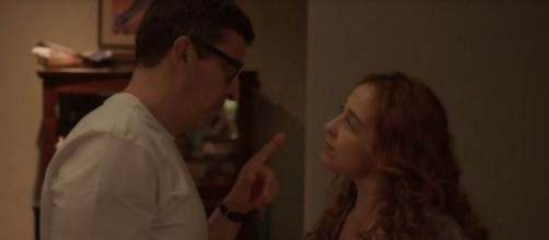 Em 'Amor de Mãe', Matias traiu Miranda, e personagem exigiu um vale night. (Reprodução/TV Globo)