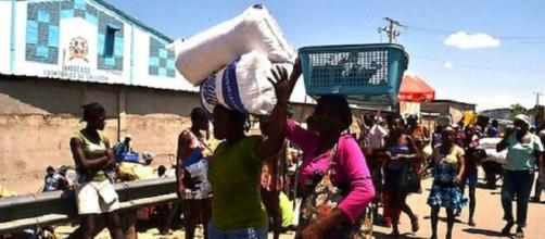 Pueblo de Haití en precarias condiciones.