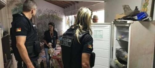 Animais foram encontrados no freezer por policiais. (Divulgação/Polícia Civil)