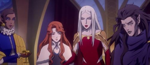 Carmilla and her sisters scheming. [Screenshot - Youtube/Netflix]