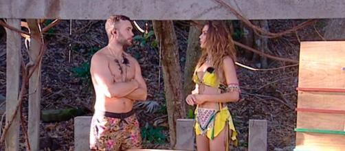 Cristian Suescun y Lara Álvarez durante la gala. / Mediaset