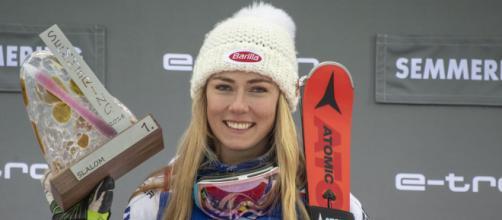 Mikaela Shiffrin annuncia il possibile rientro in gara per il 12-14 marzo (Photo credit: Gazzetta del Sud)