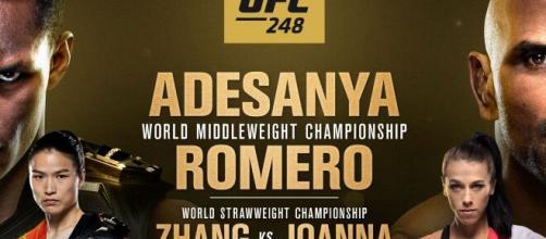 UFC 248; Adesanya vs Romero, domenica 8 marzo in onda su DAZN.