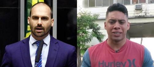 Eduardo Bolsonaro defende Gabriel Monteiro, soldado que tem levantado acusações sobre a moral do Coronel Ibis. (Arquivo Blasting News)