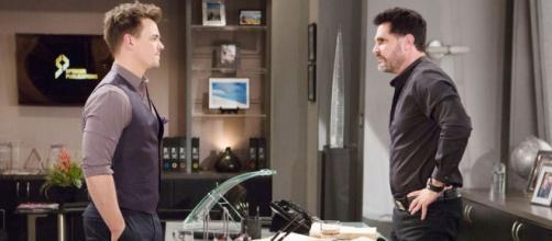 Wyatt is surprised by Bill's feelings for Brooke. [Image Source: BandB_CBS/Twitter]