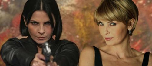 Nina Soldano nei panni di Marina Giordano e del suo alter ego Lucia Gravina.