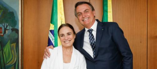 Regina Duarte e Jair Bolsonaro tiveram primeiro atrito. (Arquivo Blasting News)