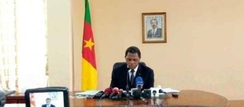 Le ministre de l'Administration Territoriale du Cameroun Paul Atanga Nji (c) Odile Pahai