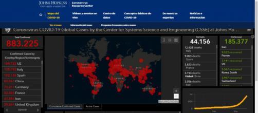 El mapa interactivo que relata el día a día de la evolución de la pandemia.