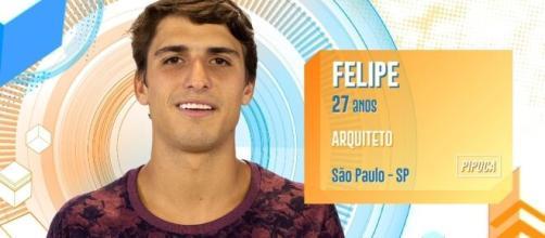 Felipe Prior foi o décimo eliminado do reality. (Divulgação/TV Globo)