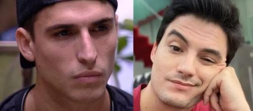 Prior foi detonado por Felipe Neto após sua reação a eliminação e a forma que tratou Babu. (Foto: Montagem/Globo/Instagram).